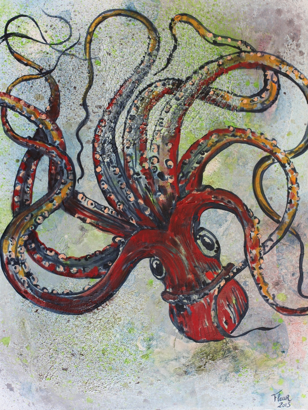 """Octopus"" Acrylic on Canvas"