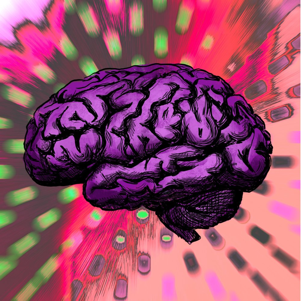 """Brain"" Digital Painting. Study for a deck of cards."