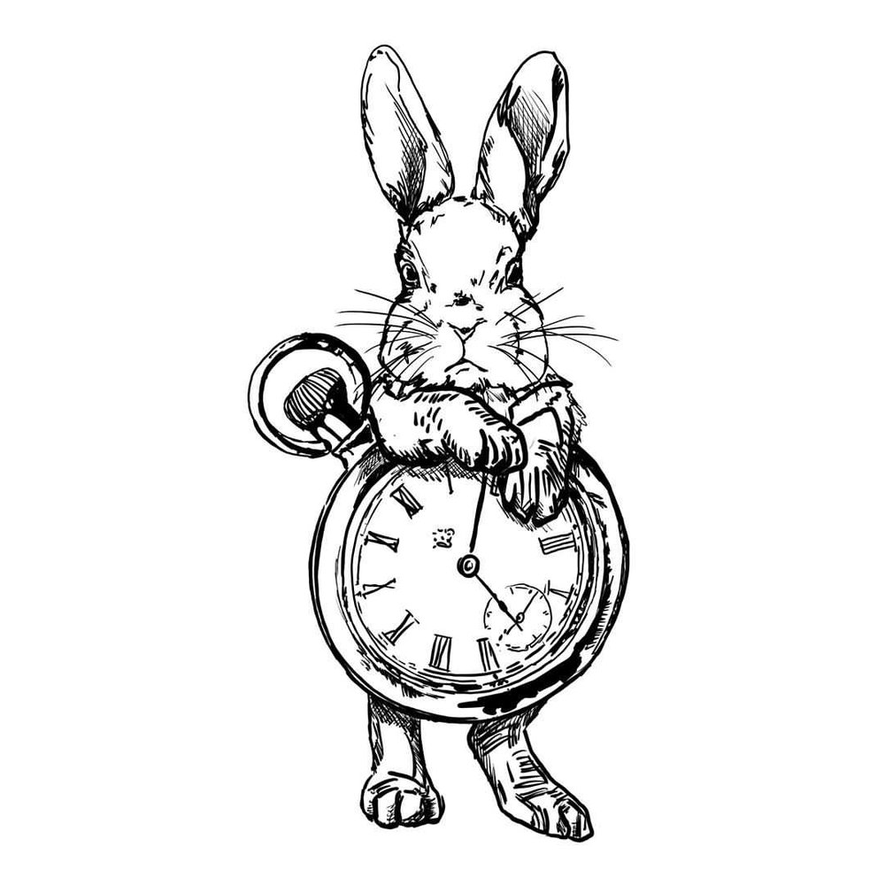 """Time Bunny"" Digital painting Limited Edition 1/12"