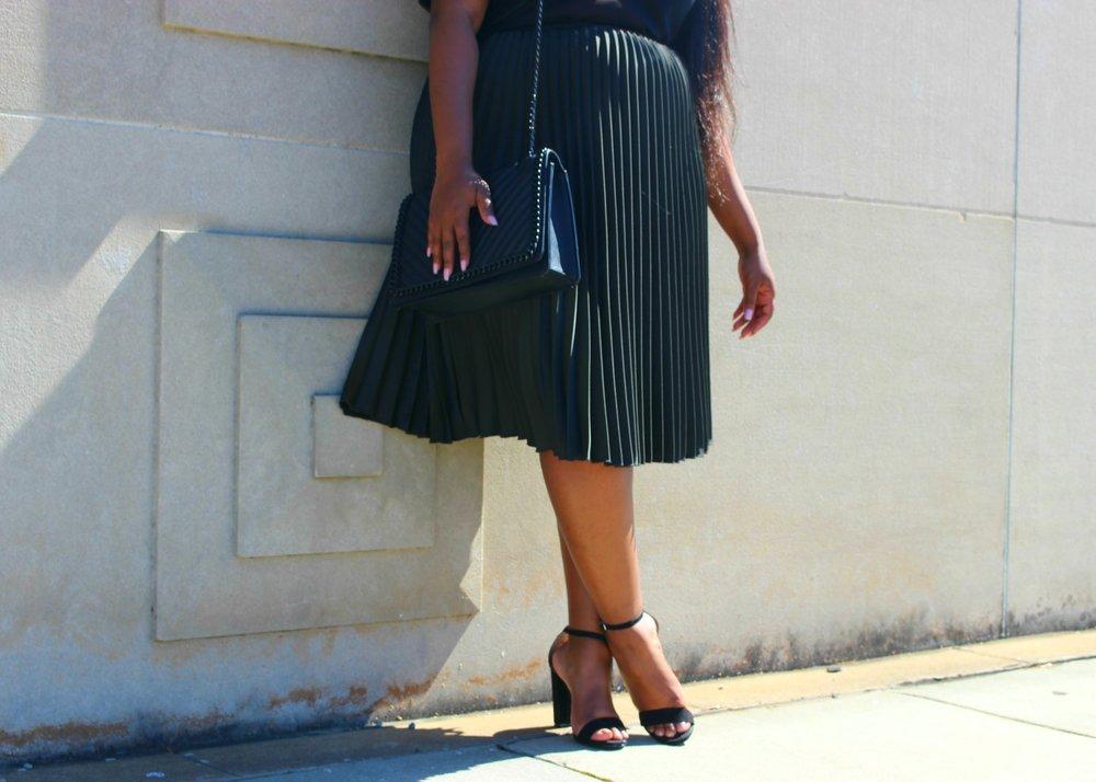 Plus Accordion Skirt