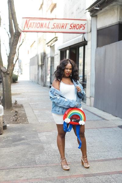 Rainbow Bookbag PLus size