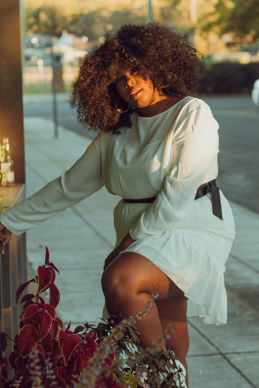 Alabama blogger white booties, white dress