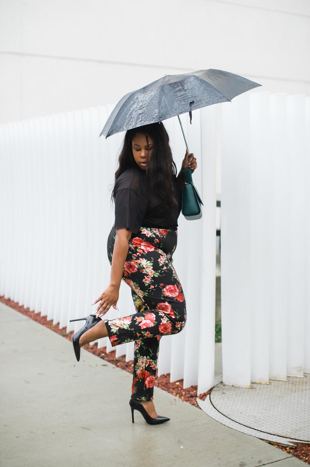 caught in the rain style blogger Birmingham Alabama