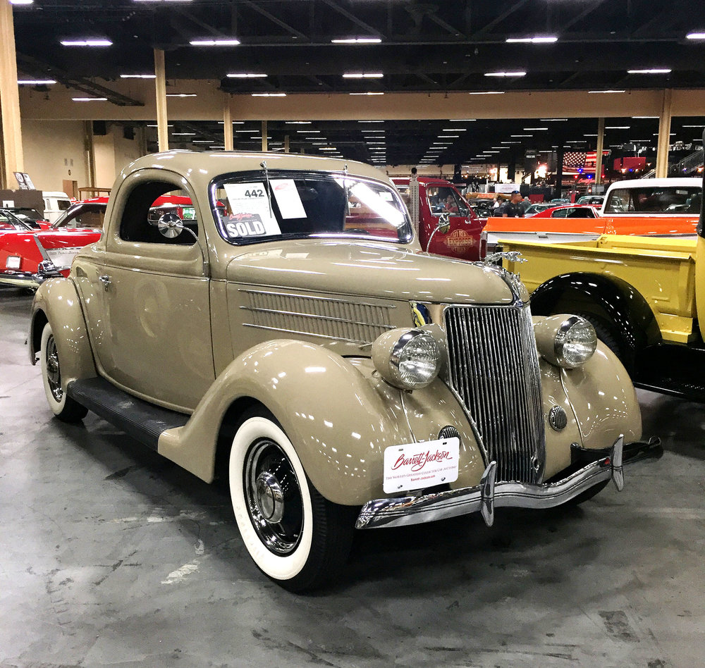 1936 FORD DELUXE 3-WINDOW COUPE