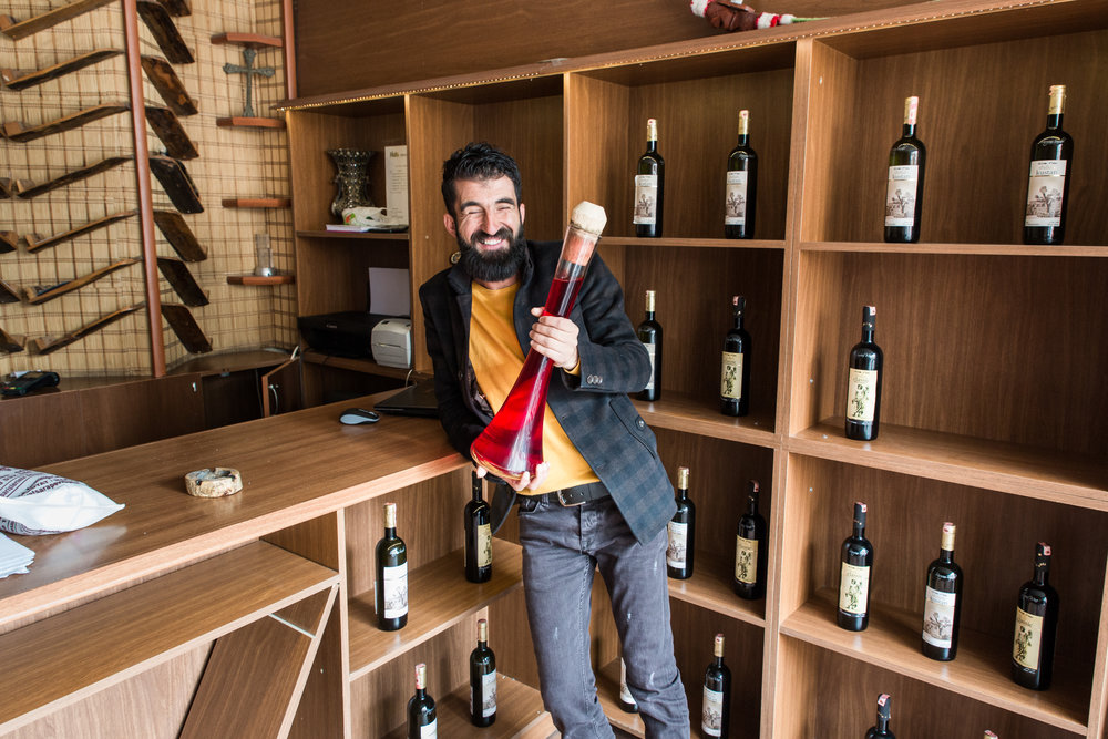Salah Gümüs works at Sabo Şüryani Sarap Evi (Sabo Assyrian Wine House) in Midyat.