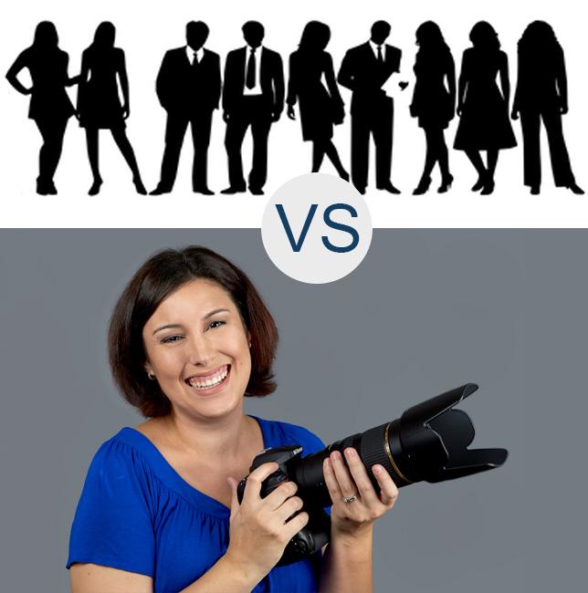 Large Photography Studio (Wedding Mills) vs. Individual Proprietor Photographer