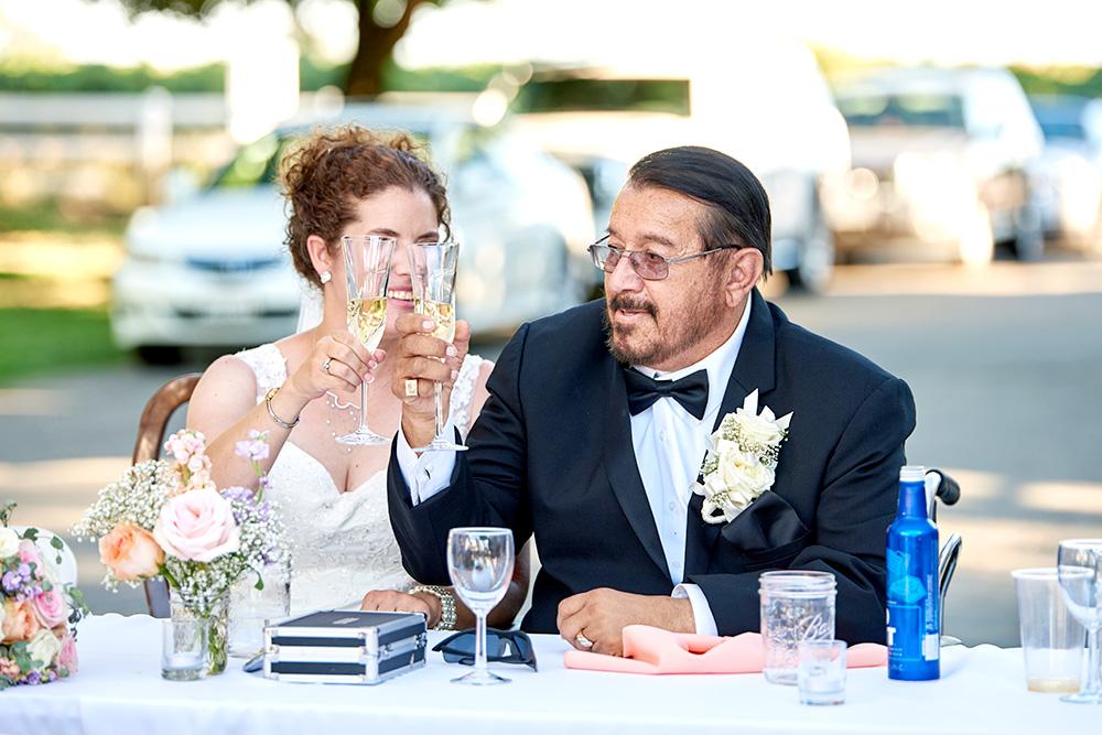 ©2017KrystalCraven - wedding toast bride and groom