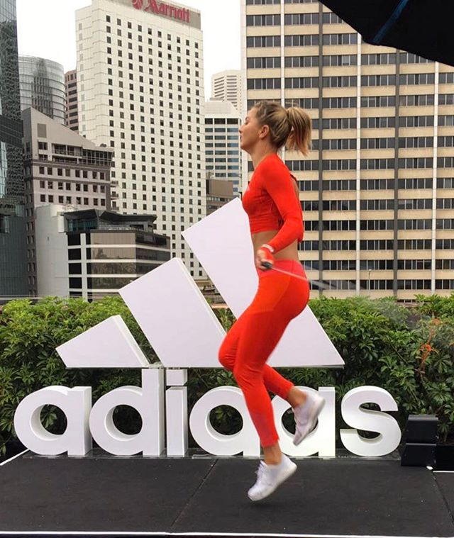 Exciting morning ahead for @adidasau  Going to meet and workout with @karliekloss in Melbourne! #neverdone For everyone out there shoot me through any questions you may have re Karlie's fitness regime/mantra?! I will be able to pass most of your questions on! @adidasau @adidasnz #adidasau #neverdone #fun #workout #love ❤️👊🏻❤️