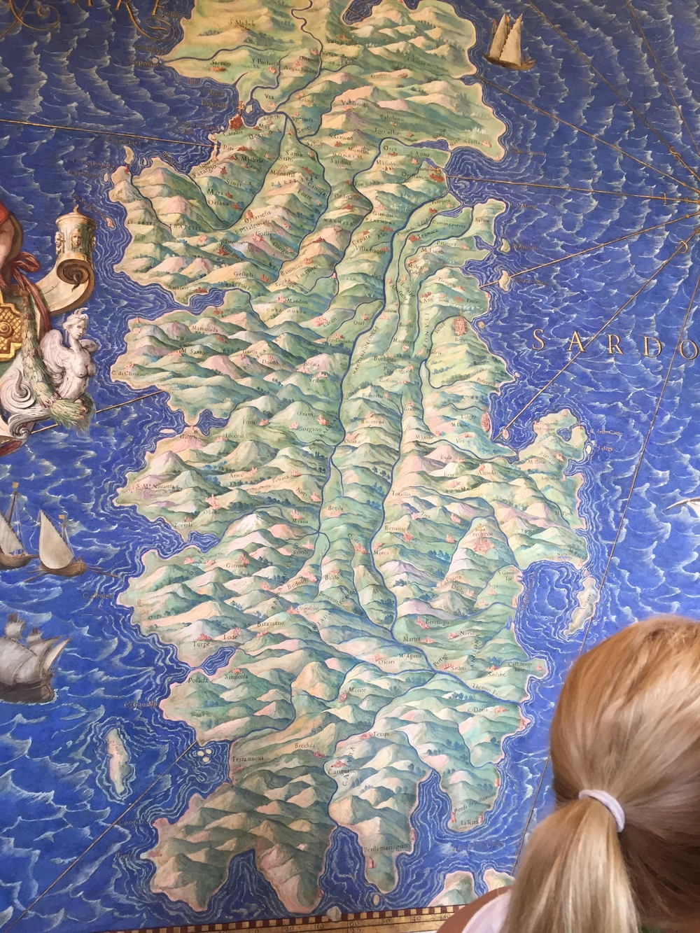 A map fresco from the Vatican. The scale may be fanciful, but you bet the cartographer understood what it was like to walk