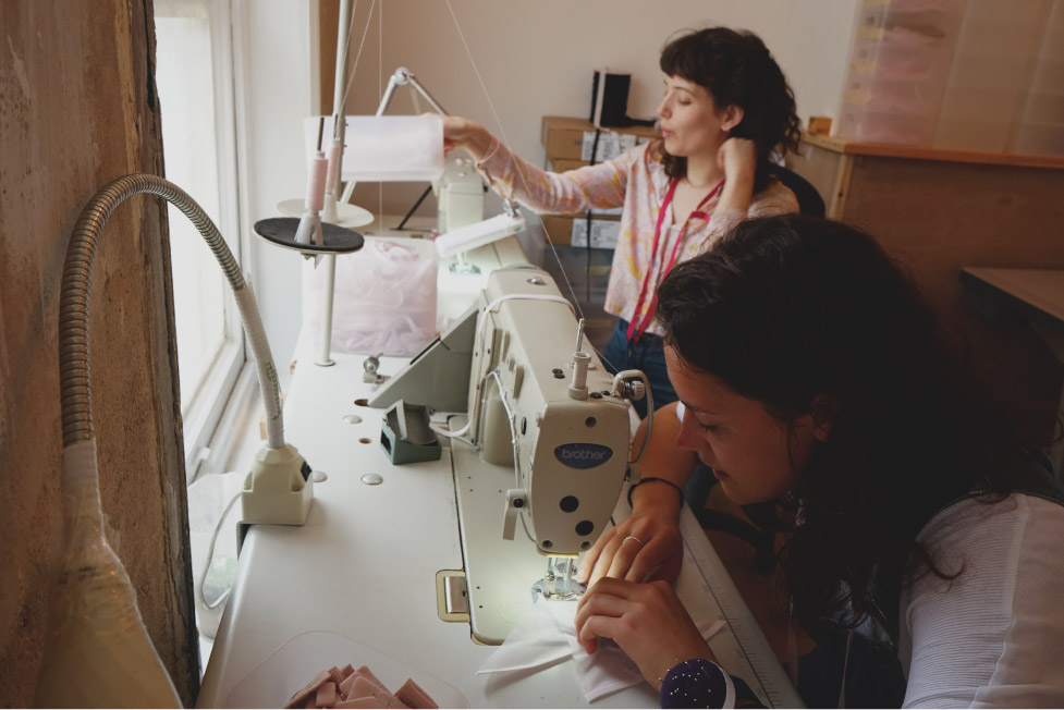 Making lingerie and underwear in London sustainably