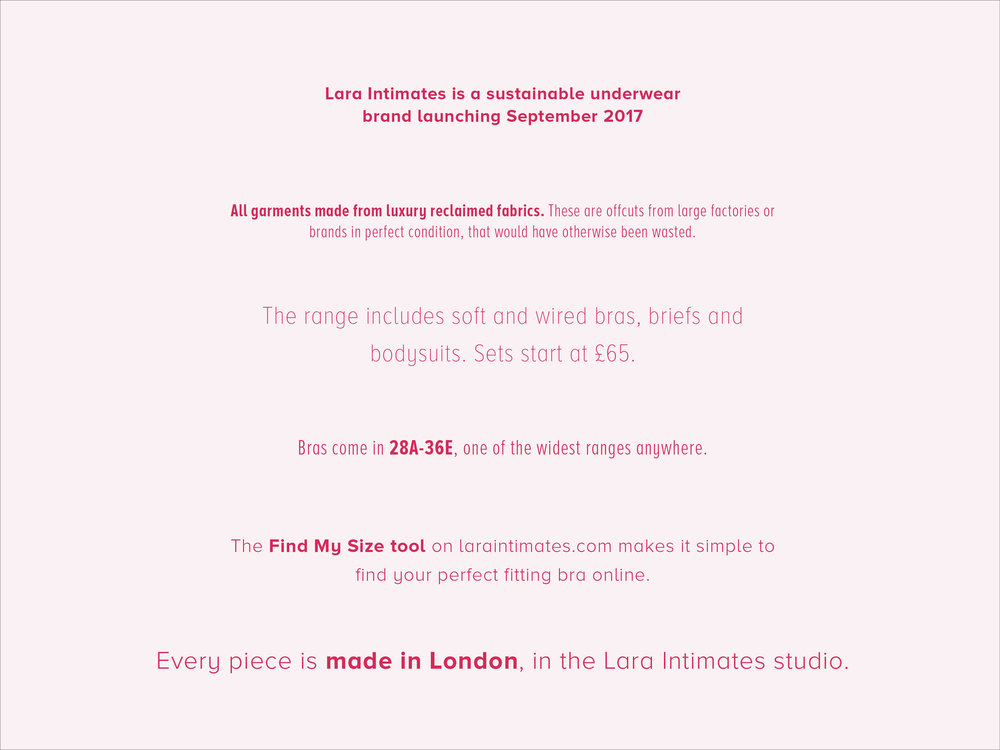 sustainably made lingerie in London quick facts