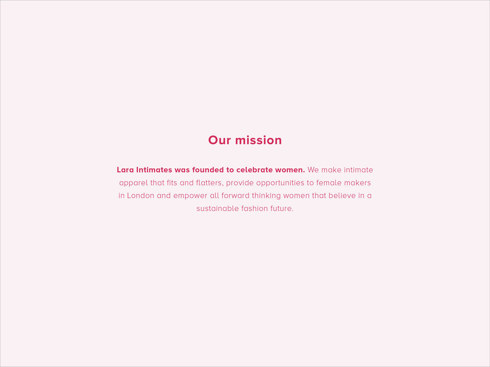 Our mission by Lara Intimates sustainable underwear London