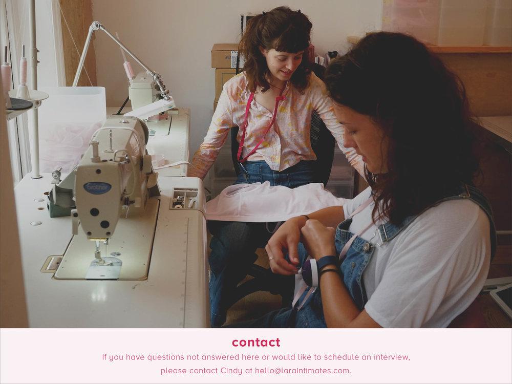 contact lara intimates sustainable underwear made in london