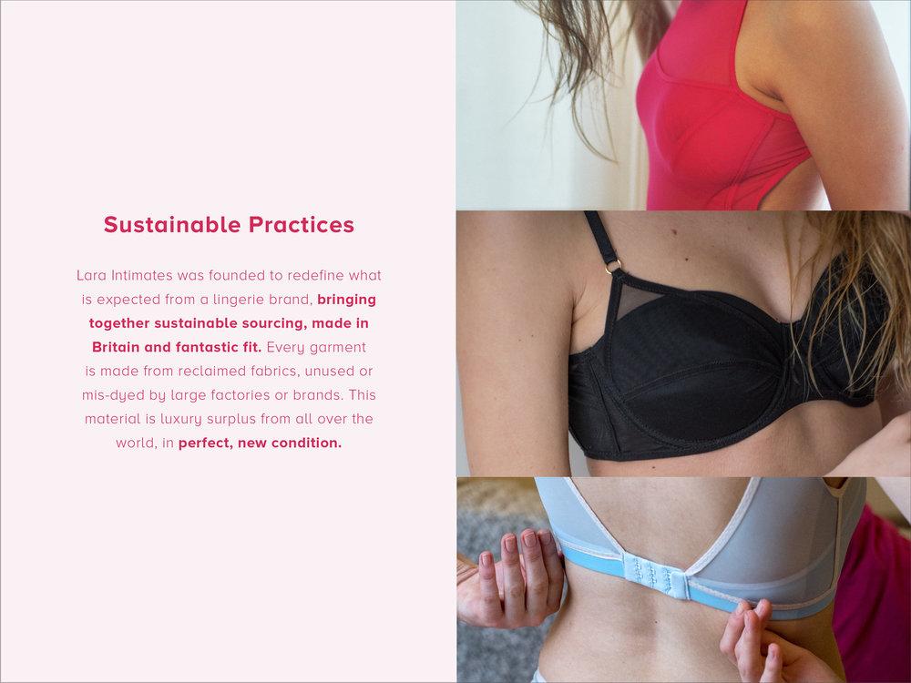 sustainable practices by lara intimates underwear