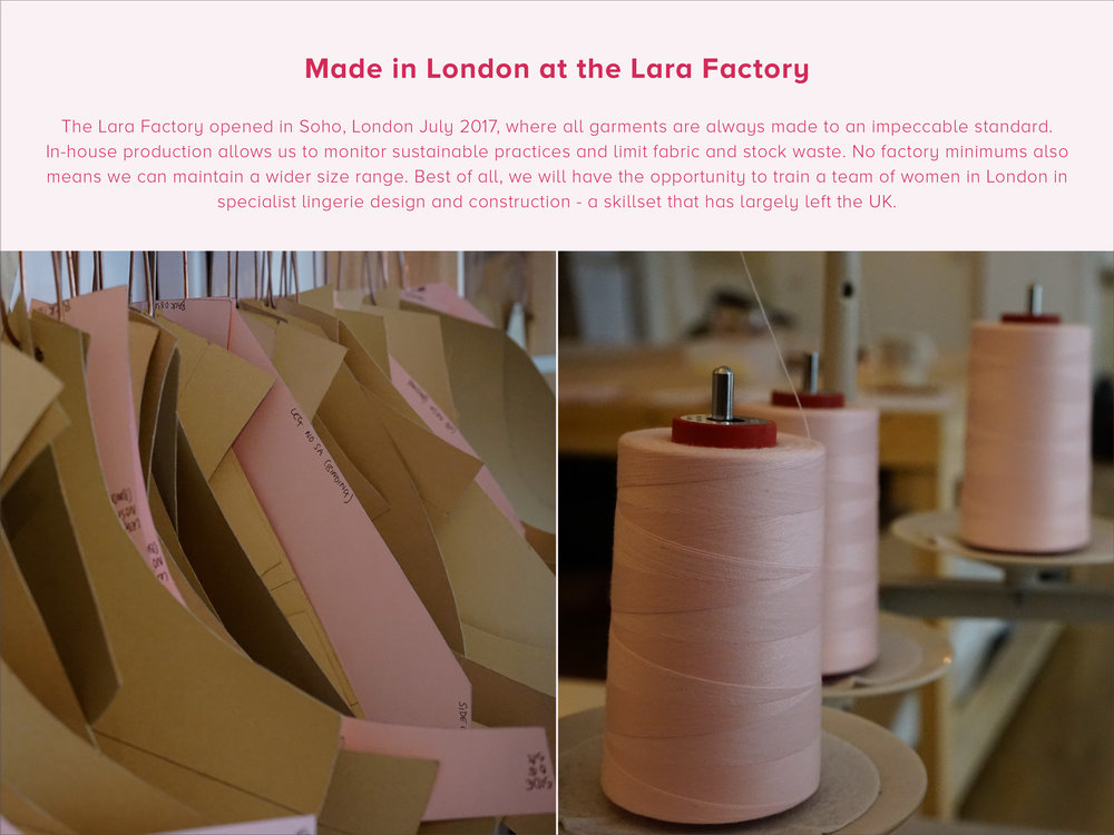 the lara intimates factory for made in london underwear