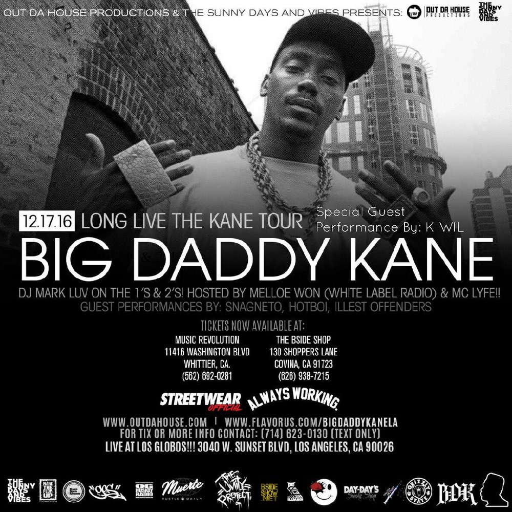 Big Daddy Kane in Los Angeles Los Globos