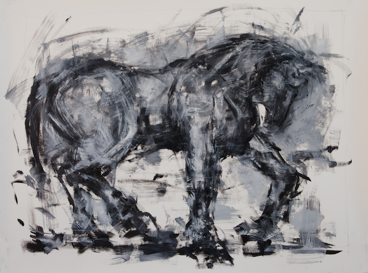 Untitled, oil on paper, 36 x 48 inches