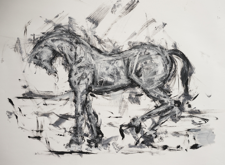 Untitled, oil on paper, 35 x 48 inches