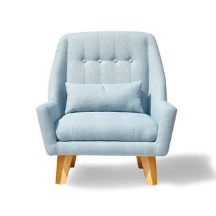 Baby Blue Modern Chair