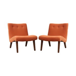 Curved Orange Lounge Chair