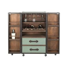 Steamer Trunk Bar Cabinet