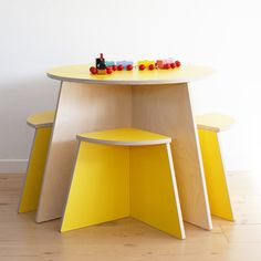 Bright Yellow Table & Chair