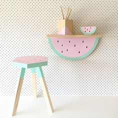 Melon Stool & Shelf