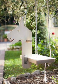 Snowy Horse Swing