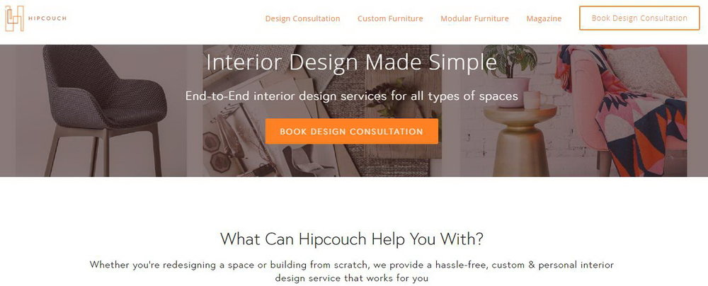 Hire Hipcouch for complete end-to-end hassle free solutions for your furniture and interior design needs