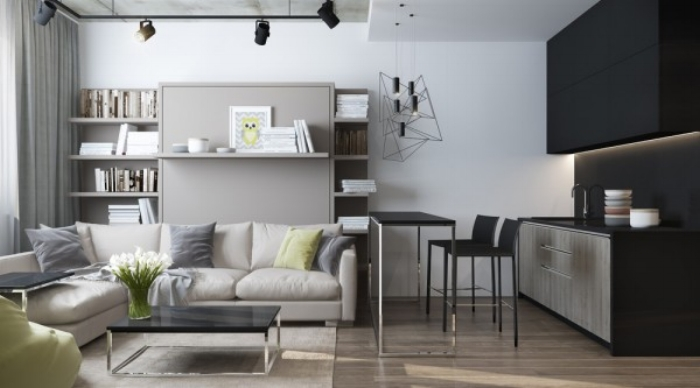 forget the claustrophobia with these space saving ideas