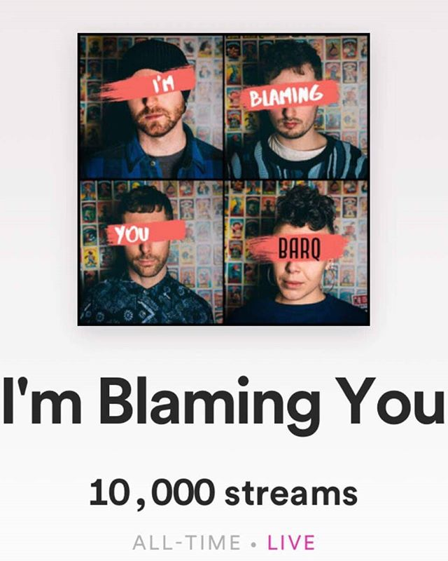 10,000 streams on @spotify, even more reason to celebrate this Wednesday! Thanks to all who listened to our new banger and who are still listening. You're all brilliant ♥️♥️♥️