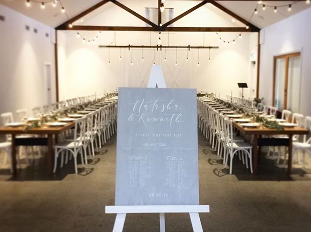 A grey custom seating chart for Natasha and Kenneth in the stunning @summergroveestate barn ✨ . . . . . #lettering #calligraphy #weddingsigns #weddinginspo #brisbanebride #sunshinecoastweddings #goldcoastwedding #goldcoastbride #welcome #welcomesign #wedding #bride #reception #timbersign #weddingcalligraphy #reception #queenslandbrides #design #interiorinspo #engaged #shesaidyes #gettingmarried