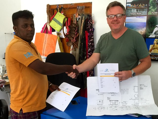 Sameeya and Jorn sign contract for a safe house for Ramani