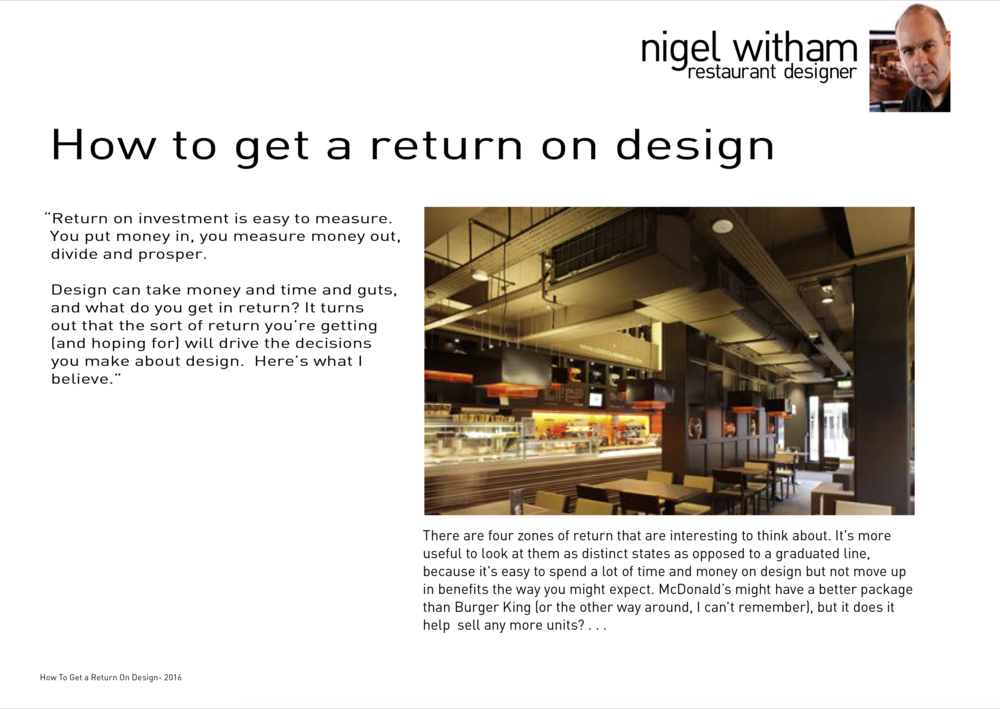 How to Get a Return On Design