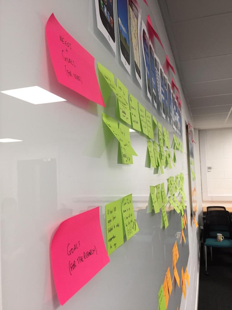 Customer-journey-workshop-postits-uxdesign-furthermore