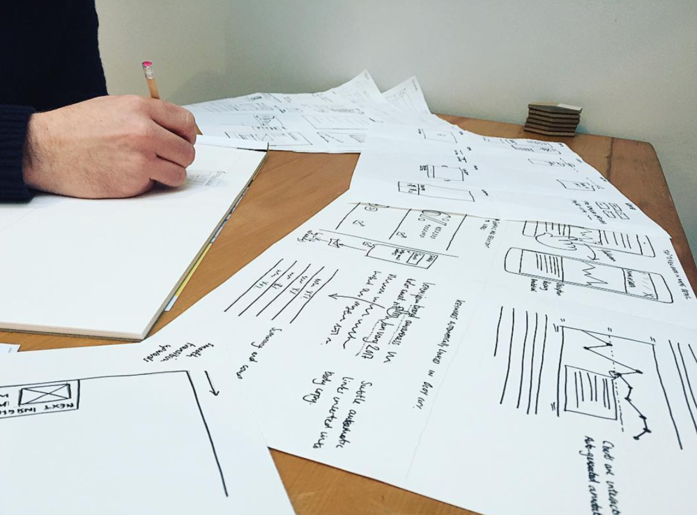 UX Design sketching - wireframes
