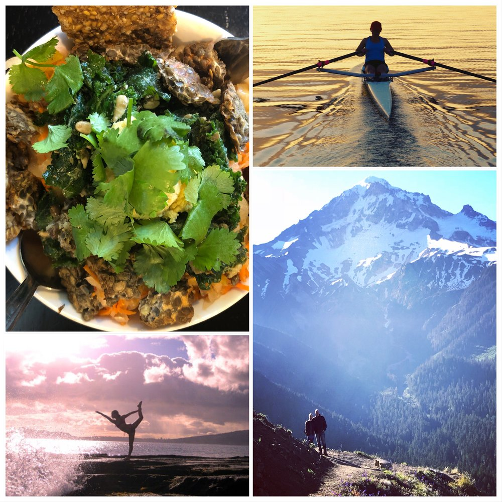 How I maintain a healthy life....cooking, rowing, yoga, hiking and traveling