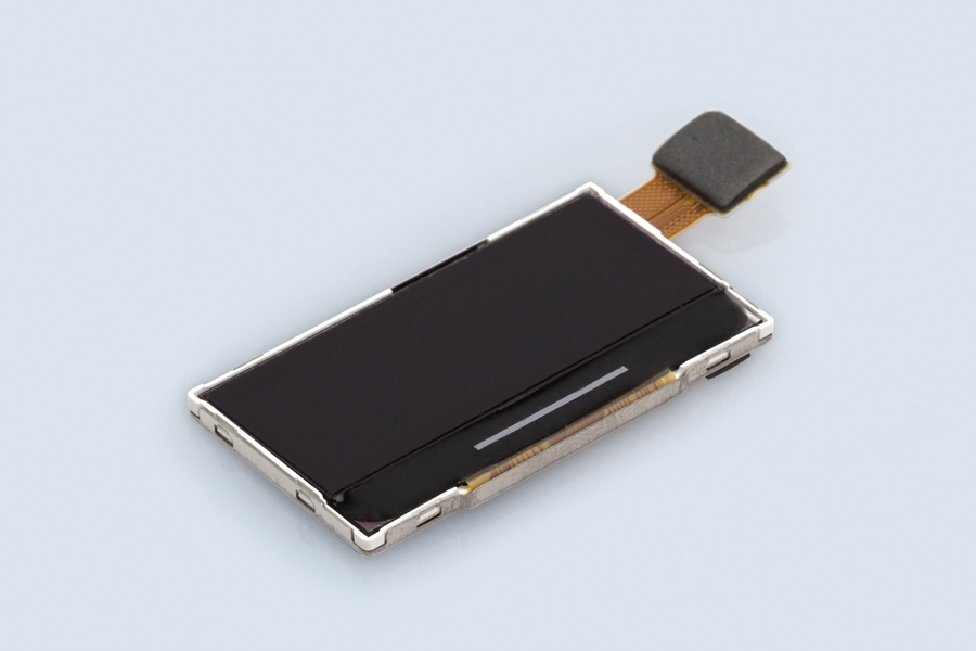 In a metal casing assembled TFT graphic display