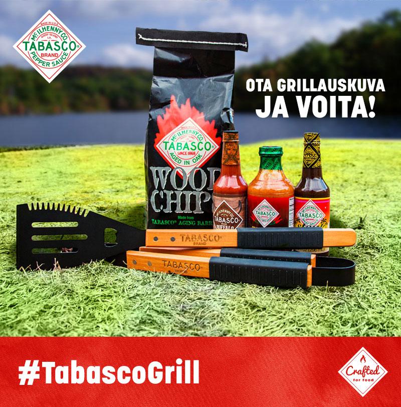 Upea TABASCO®-grillisetti kokonaisuudessaan