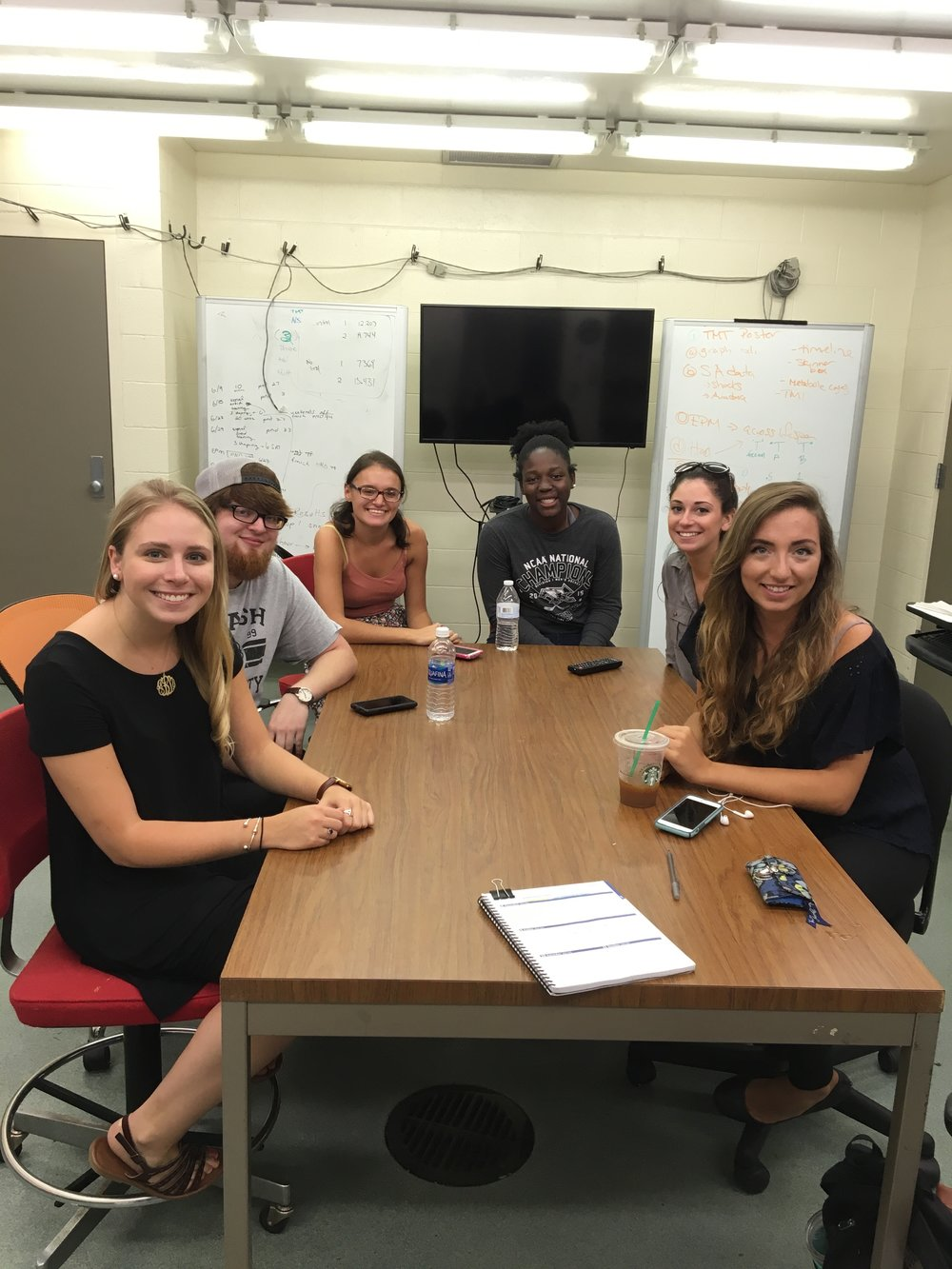 First lab meeting Fall 2016