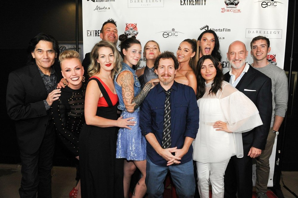 "The Cast of ""Extremity"" with Director Anthony DiBlasi."