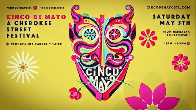 Cinco De Mayo Texas Stage 5:40pm Biggest party in STL #cherokeestreet