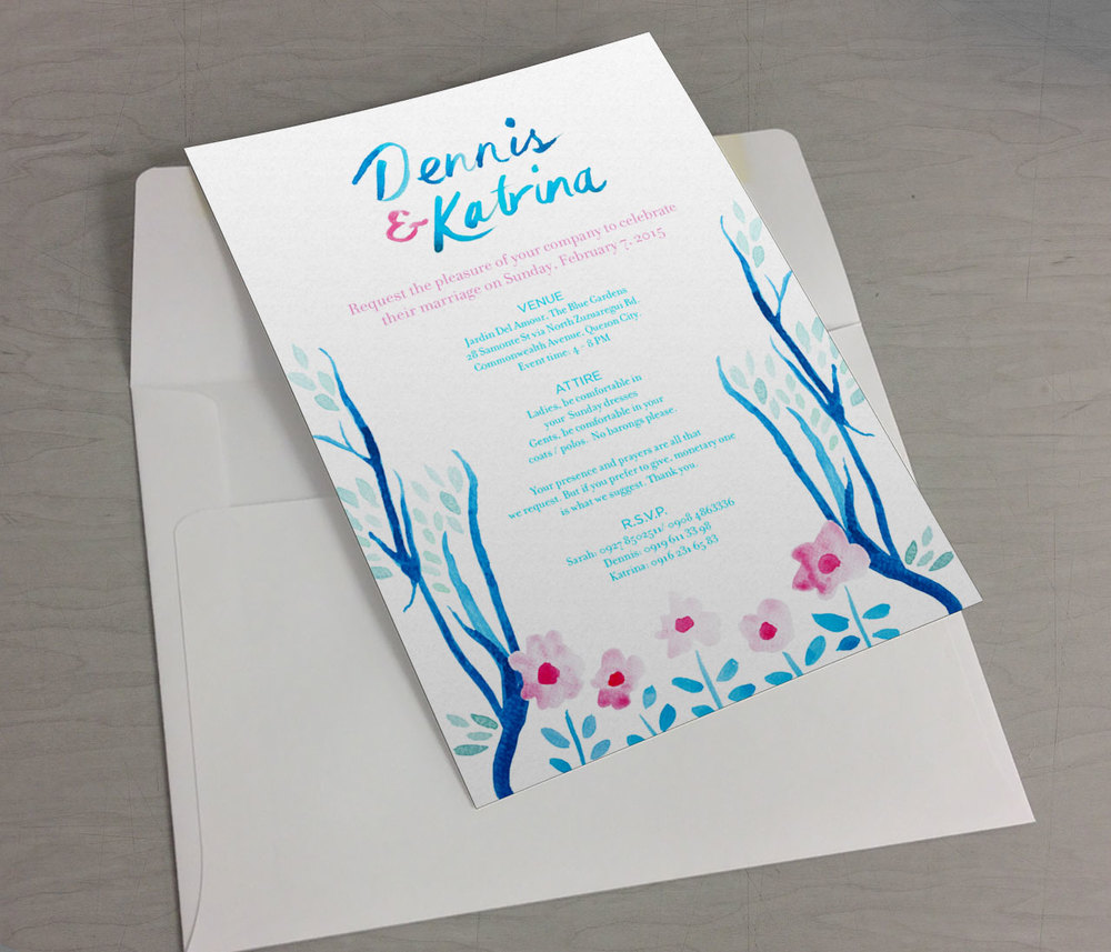 Wedding invites for a friend. 2015.