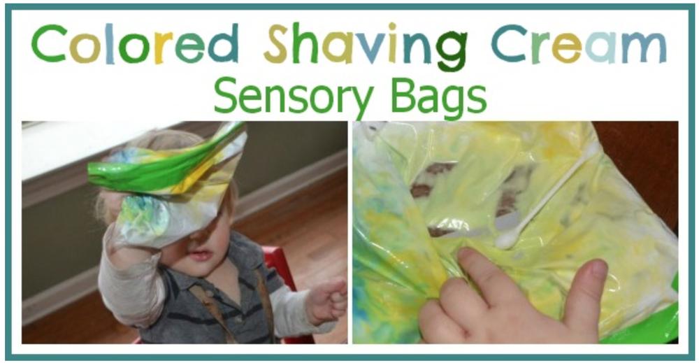 Colored shaving cream sensory bags from SimplePlayIdeas.com