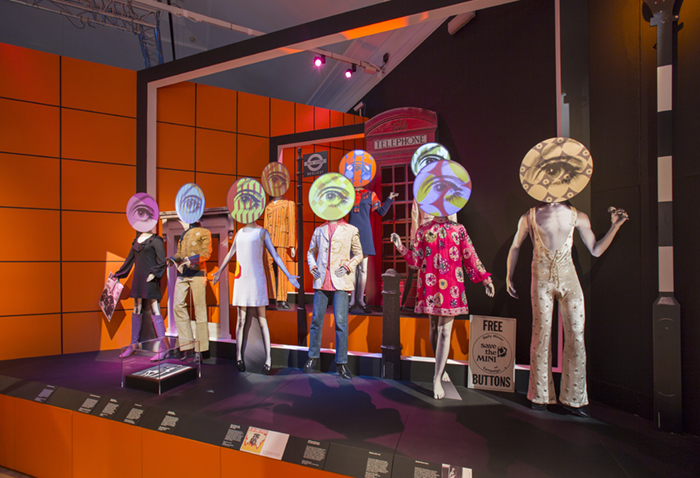Installation image for 'You Say You Want a Revolution? Records and Rebels 1966-70', V&A Museum. Photo (c) Victoria and Albert Museum, London