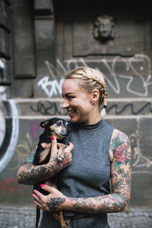 Flora Amalie Pedersen spotted in Berlin. Photo by Lisa Jane