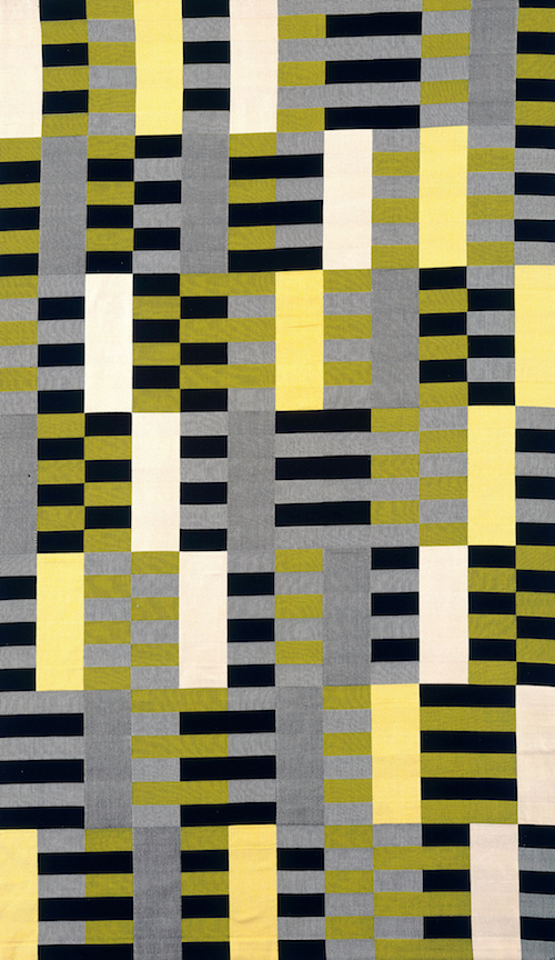 Black White Yellow 1926 / 1965, original 1926 (lost), re-woven by Gunta Stölzl in 1965, cotton and silk, The Metropolitan Museum of Art, Purchase, Everfast Fabrics Inc. and Edward C. Moore Jr. Gift, 1969 / Art resource / Scala, Florence © 2018 The Josef and Anni Albers Foundation / Artists Rights Society (ARS), New York/DACS, London