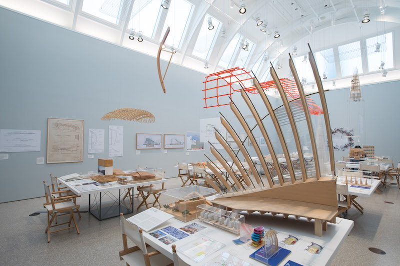 Renzo Piano: The Art of Making Buildings  installation view, 2018. Photo: David Parry.