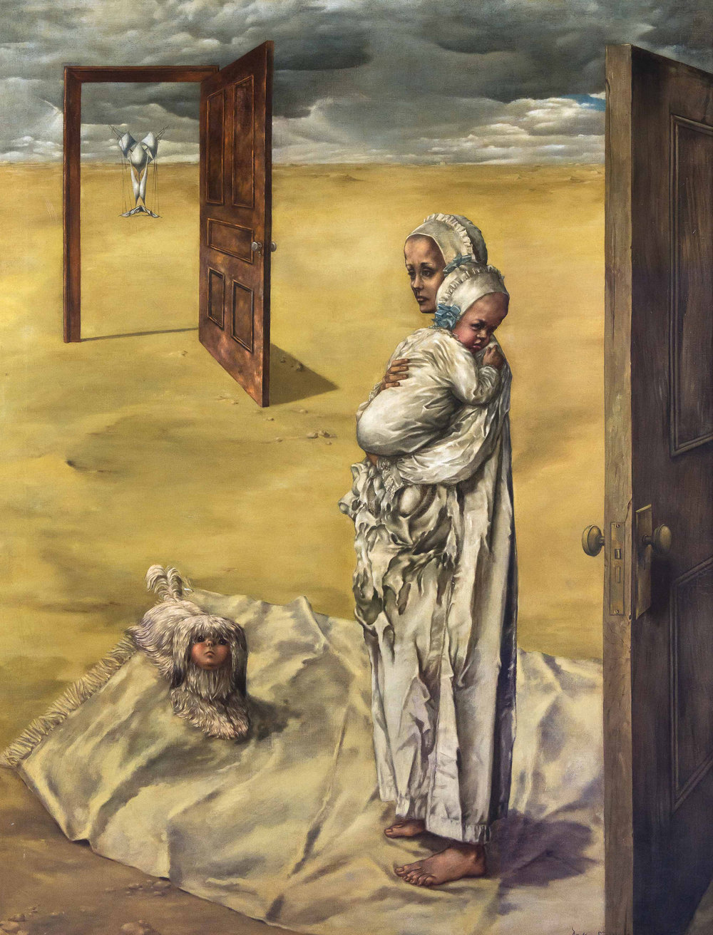 Dorothea Tanning (1910 – 2012)   Maternity,  1946-47 Oil paint on canvas Private collection © DACS, 2018