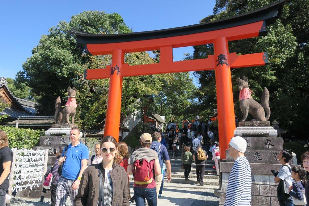 Entrada al Monte Inari, donde nos esperaba una subida a través de miles de 'toris'
